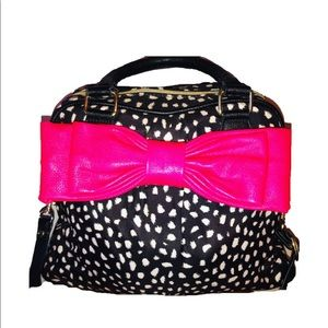 Betsey Johnson Big Bow/Spotted Satchel
